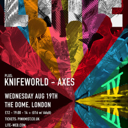 Knifeworld main support to LITE at The Dome, Tufnell Park, London 19.8.15