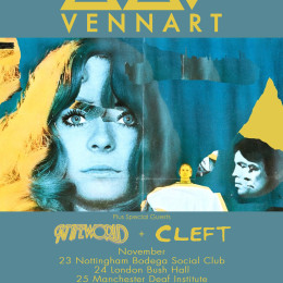 Knifeworld main support to Vennart UK Tour Nov 15